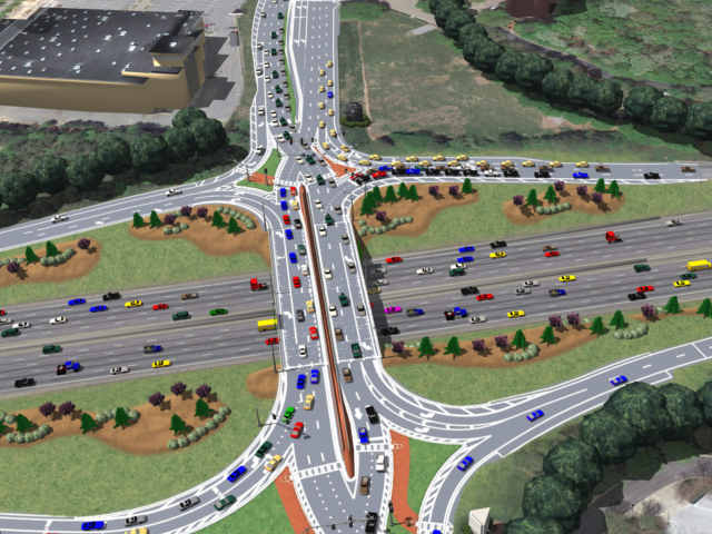 An aerial view of what the Ashford Dunwoody DDI will look like.