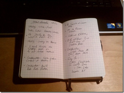 Moleskin Pocket Squared, with Notes