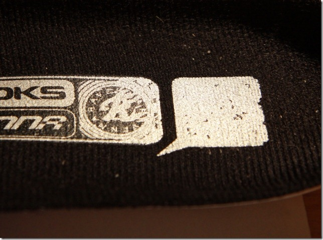 This is what you get when stick a QR Code on the the insole of a shoe
