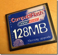 128 MB Compact Flash card