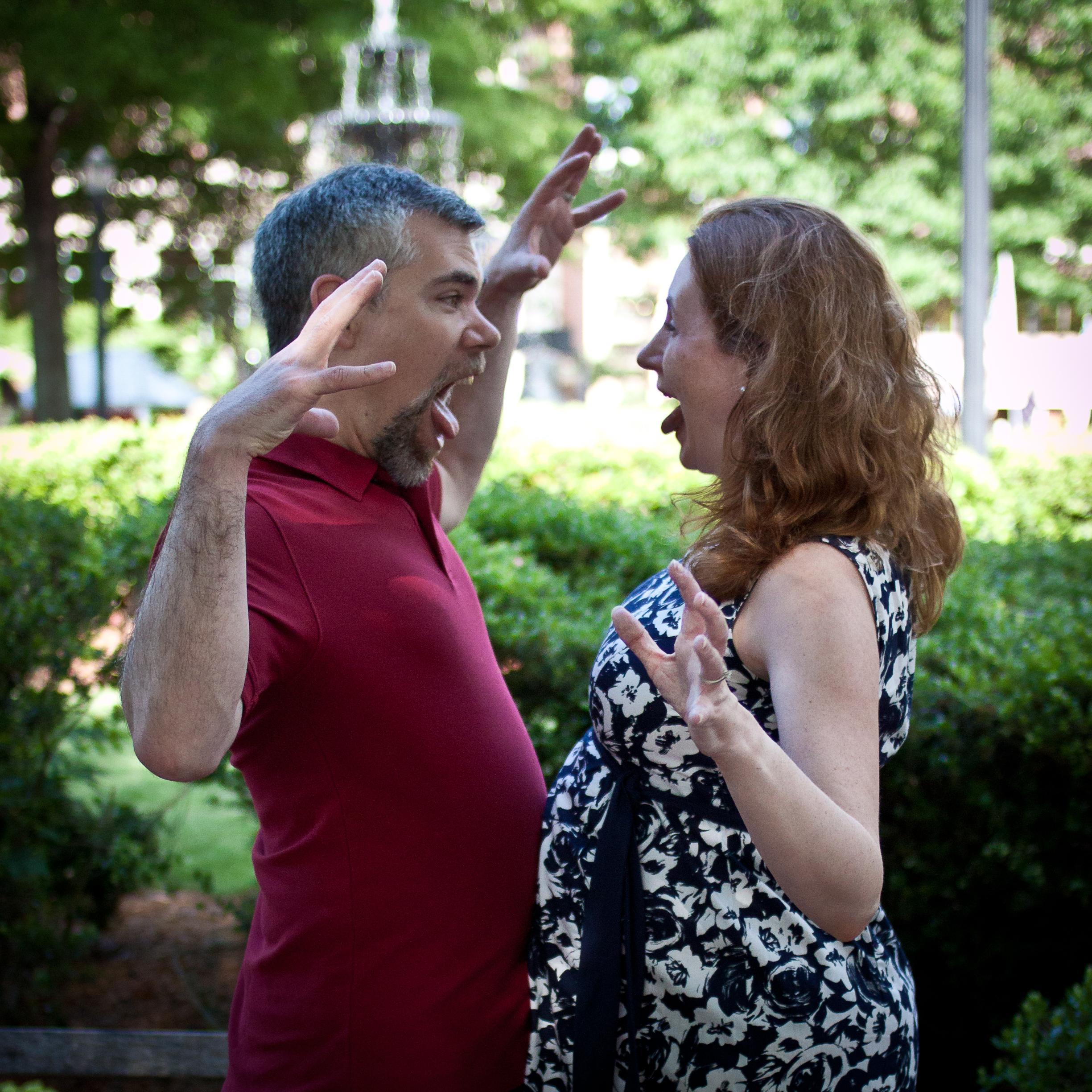 Jenn and Bill in Marietta Square: Spring 2013
