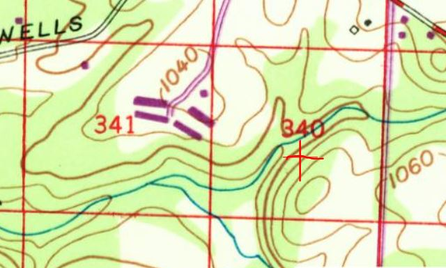 USGS topo from 1967 of my property.