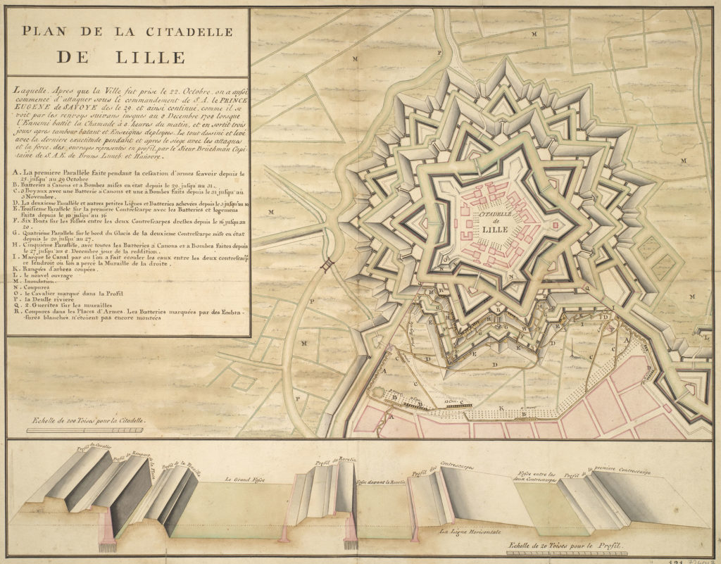 Plan view of La Citadelle de Lille, Fr.
